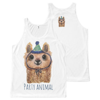 Llama Party Animal Tank Top All-Over Print Tank Top
