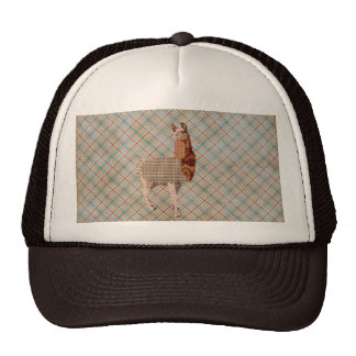 Llama Plaid Lid Trucker Hats