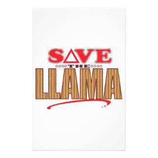 Llama Save Stationery Design