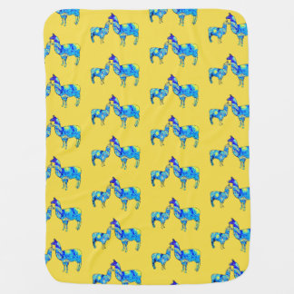 Llama Starry Night, Van Gogh, Baby Blanket
