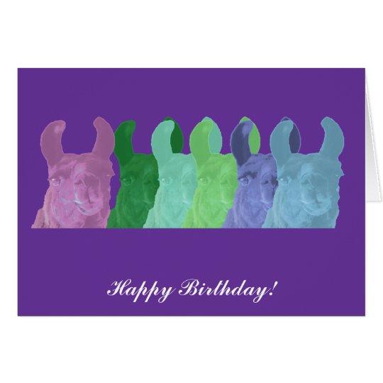Llama Sweet Pea: The Wise Matriarch Llama Card