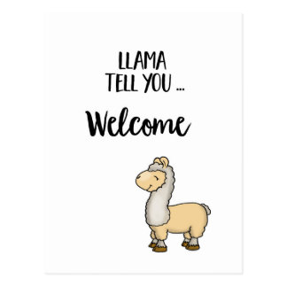 LLama tell you ... Llama Postcard