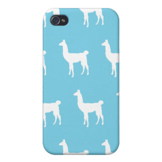 Llama White light blue Cover For iPhone 4