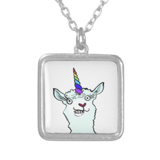 Llamacorn Silver Plated Necklace