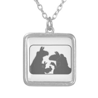 Llamas, Bunnies & Geese | Christmas or Anyday Silver Plated Necklace