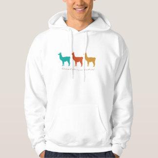 Llamas Color My World with Joy Hoodie