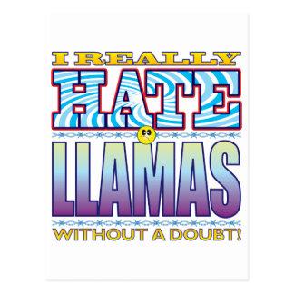 Llamas Hate Face Postcard