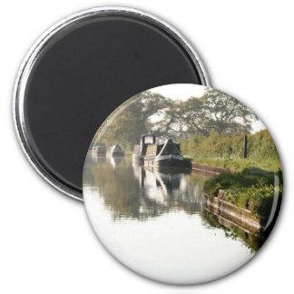 Llangollen Canal Boat through Bridge Magnet