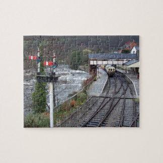 Llangollen train station. jigsaw puzzle