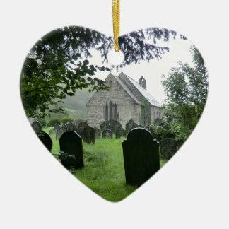 Llanmawddwy Parish Church (St Tydecho) Ceramic Heart Decoration