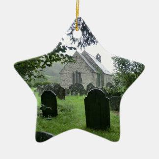 Llanmawddwy Parish Church (St Tydecho) Ceramic Star Decoration