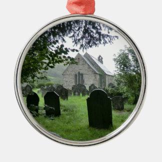 Llanmawddwy Parish Church (St Tydecho) Silver-Colored Round Decoration