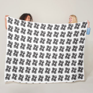 LLL Black and white Large Fleece Blanket