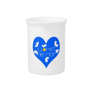 Lloret de Mar souvenir blue heart. Pitcher