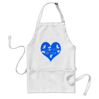 Lloret de Mar souvenir blue heart. Standard Apron