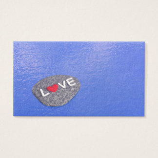 lLove on stone - 3D render Business Card