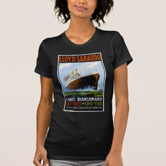 Lloyd Sabaudo Vintage Ocean Liner Advertisement T-Shirt