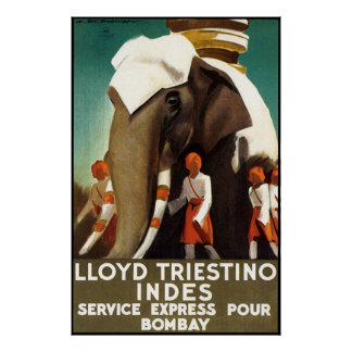 Lloyd Triestinao Line to Bombay Posters