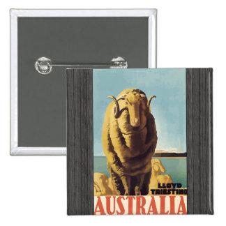 Lloyd Triesting Australia Vintage Pinback Button