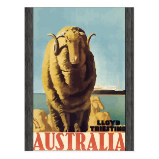 Lloyd Triesting Australia, Vintage Postcard