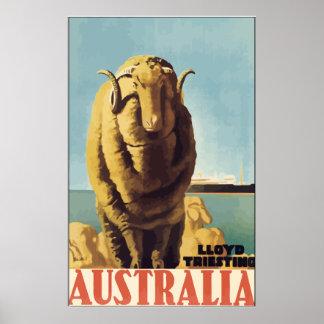 Lloyd Triesting Australia, Vintage Poster