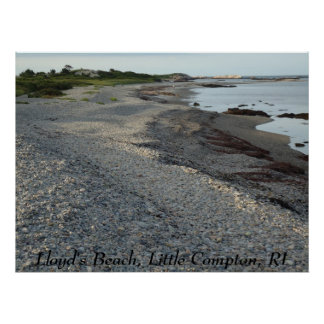 Lloyd's Beach, Little Compton, RI Poster