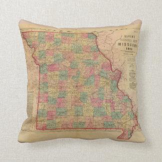 Lloyd's Offical Map of Missouri (1861) Cushion