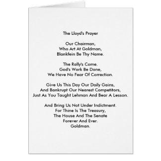 Lloyd's Prayer Card