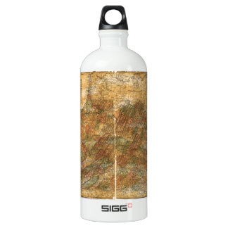 Llyod's Official Map of Virginia (1861) Water Bottle