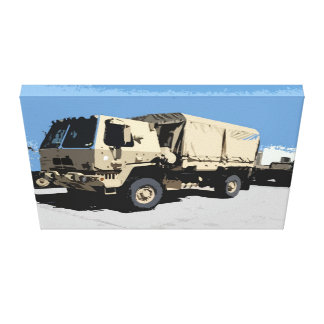 LMTV AMERICAN MILITARY STRETCHED CANVAS PRINTS