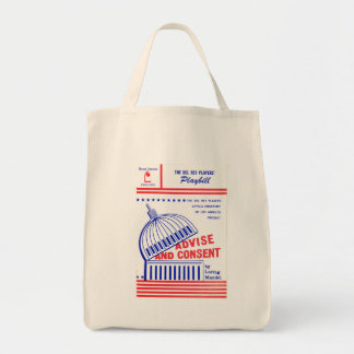 LMU Library Advise and Consent Playbill Tote Bag