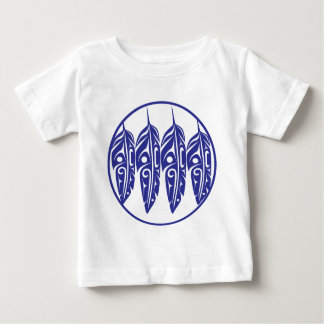 LNeel-Four-Feathers-Purple-White Baby T-Shirt
