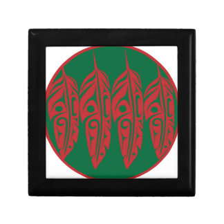LNeel-Four-Feathers-Red-Green Gift Box