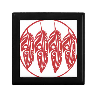 LNeel-Four-Feathers-Red-White Gift Box