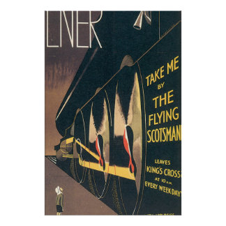 LNER The Flying Scotsman Vintage Travel Poster