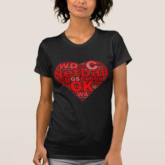 lNetball Positions Love Heart Design T-Shirt
