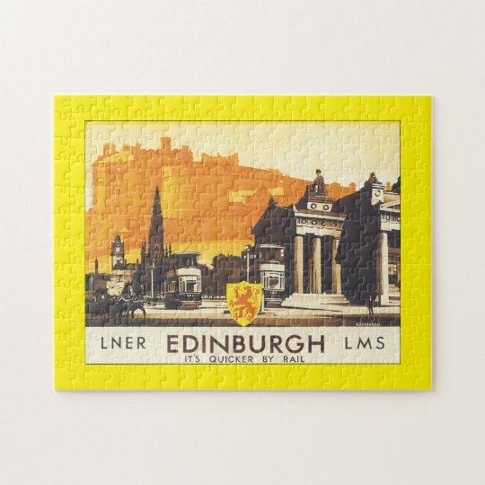 LNR Edinburgh LMS_Vintage Travel Poster Jigsaw Puzzle