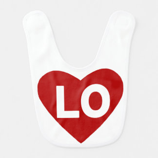 LO {love} Heart Bib for Twins
