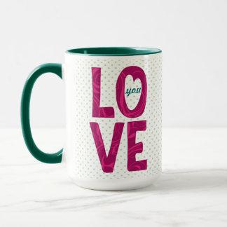 LO VE You Text Design - customizable mug