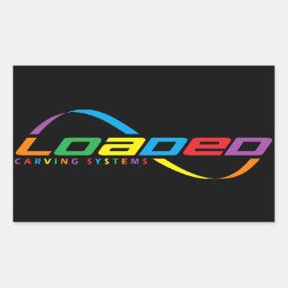 loaded longboards rectangular sticker