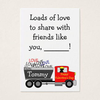 Loads of Love School Valentines for Kids Business Card