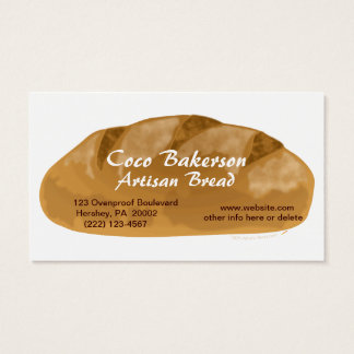 Loaf of Artisan Bread Business Cards Bakery