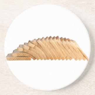 Loaf of sliced bread beverage coaster