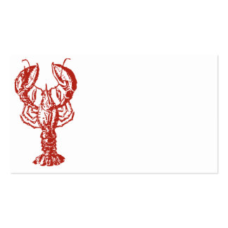 Lobster Art, King of Seafood Gifts Business Card Template