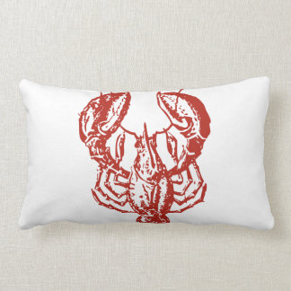 Lobster Art, King of Seafood Gifts Lumbar Pillow