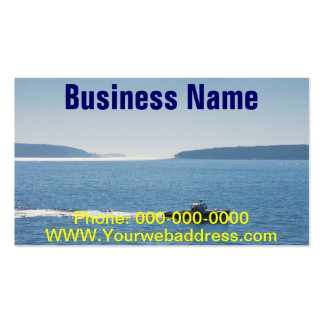 Lobster Boat And Islands Off Mount Desert Island Pack Of Standard Business Cards