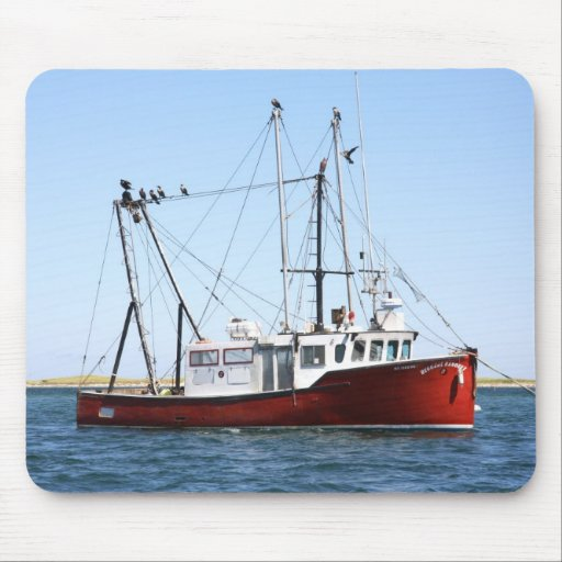 Lobster Boat With Sea Gulls In Cape Cod Mousepad