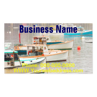Lobster Boats In Bass Harbor, Mount Desert Island Business Card Template