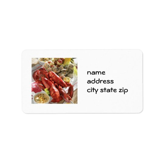 LOBSTER BOIL RETURN ADDRESS LABEL