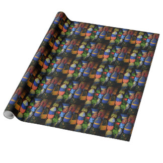 Lobster Buoy Linen Wrapping Paper
